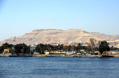 View from Luxor to Theben-West