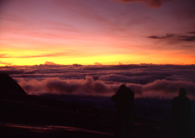 Sunrise in a height of 4000m