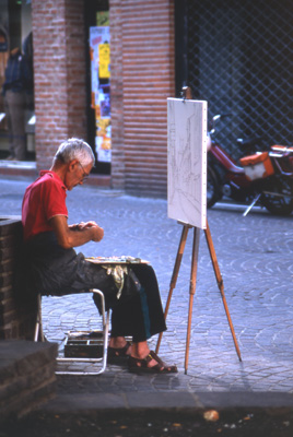 Painter in the streets